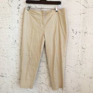 ANNE KLEIN BROWN CAPRIS PANTS 8